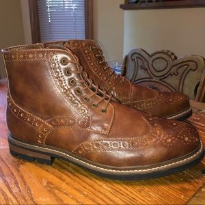 Brown wingtip boots Size 13